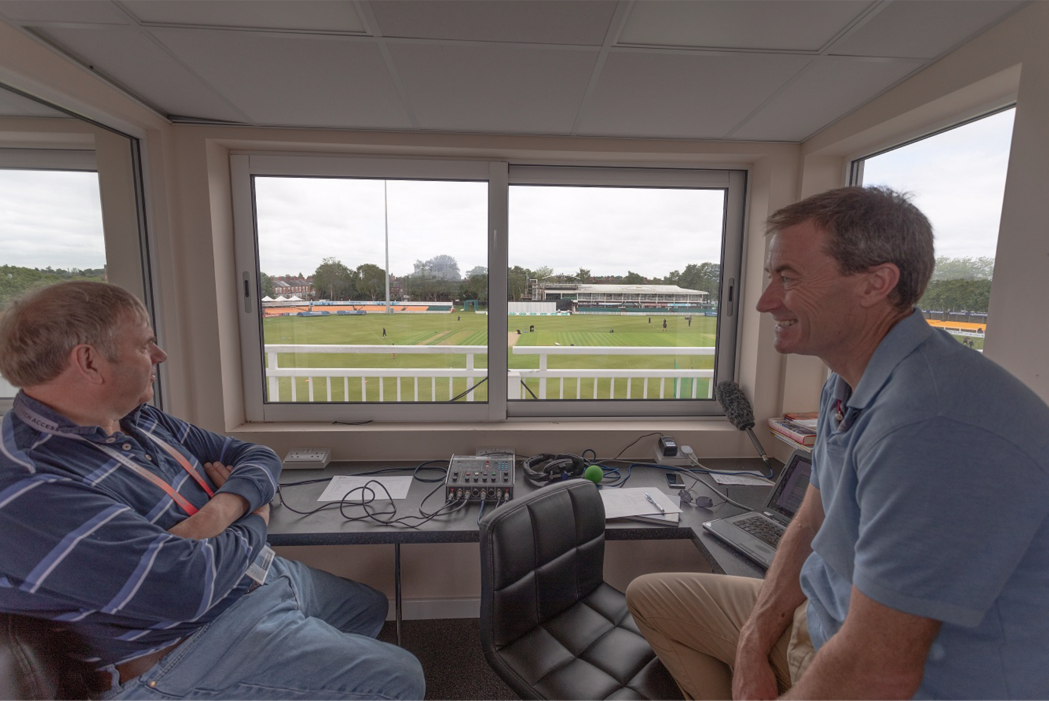 View from the commentary box… talking Casualty, Tinder – oh, and cricket